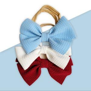 Pinwheel Bow Nylon Headband / 3 piece